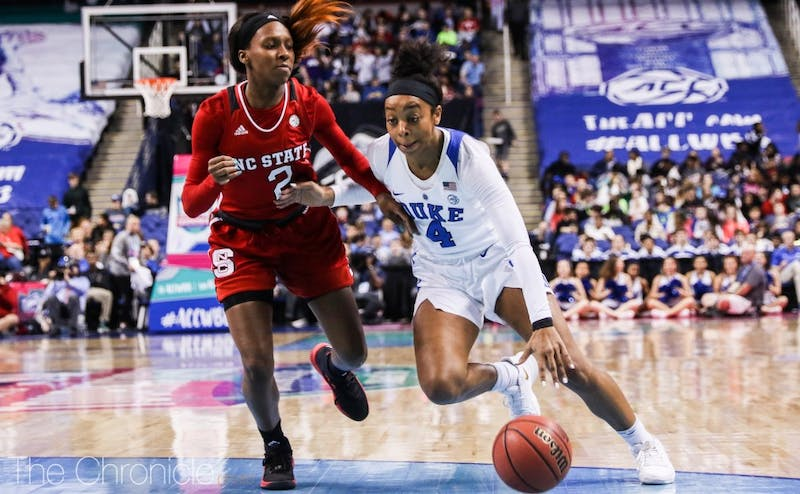 Lexie Brown kept the Blue Devils afloat in the first half with 10 of their 18 points.