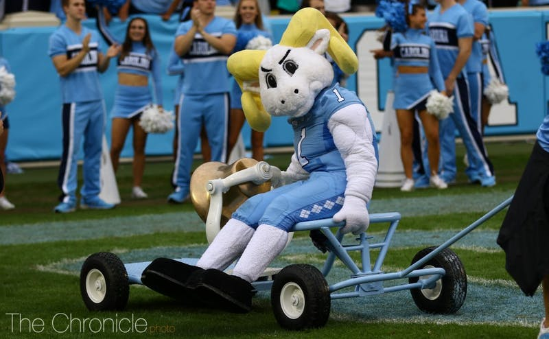 The Tar Heels are led by redshirt freshman quarterback Chazz Surratt, who initially committed to Duke in 2015.