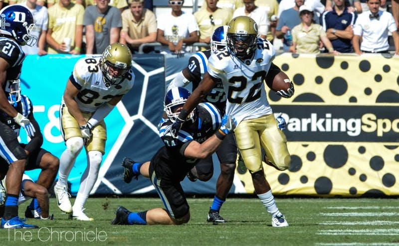 Clinton Lynch is one of seven Georgia Tech ball-carriers this season with more than 100 rushing yards.