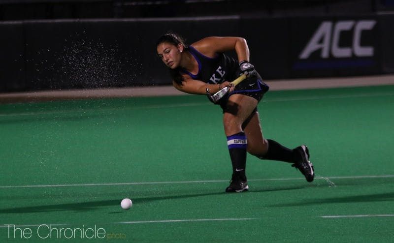 Senior Alyssa Chillano scored both of Duke's goals off penalty corners.
