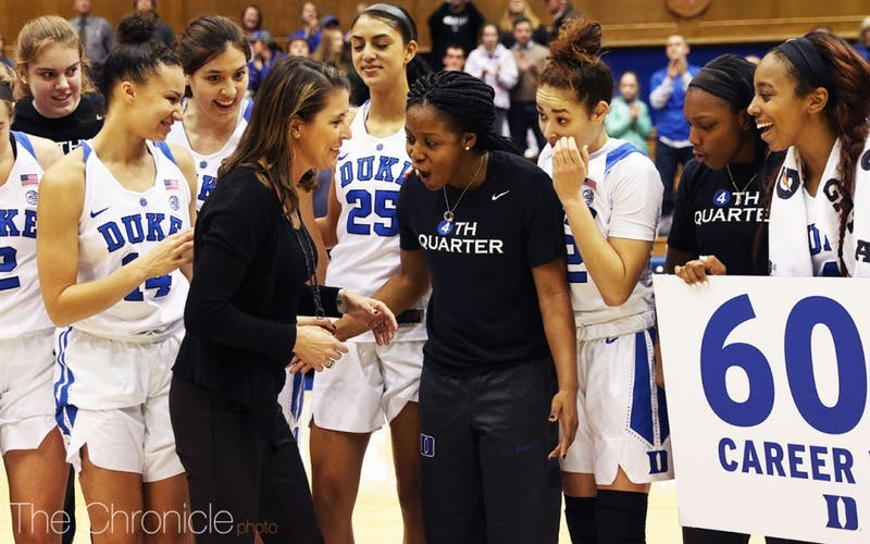 Kyra Lambert has remained a captain and a vocal member of Duke's team despite a torn ACL that is keeping her on the sidelines all season.