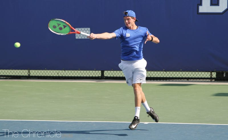 Sophomore Spencer Furman went undefeated to help Duke to two wins this weekend.