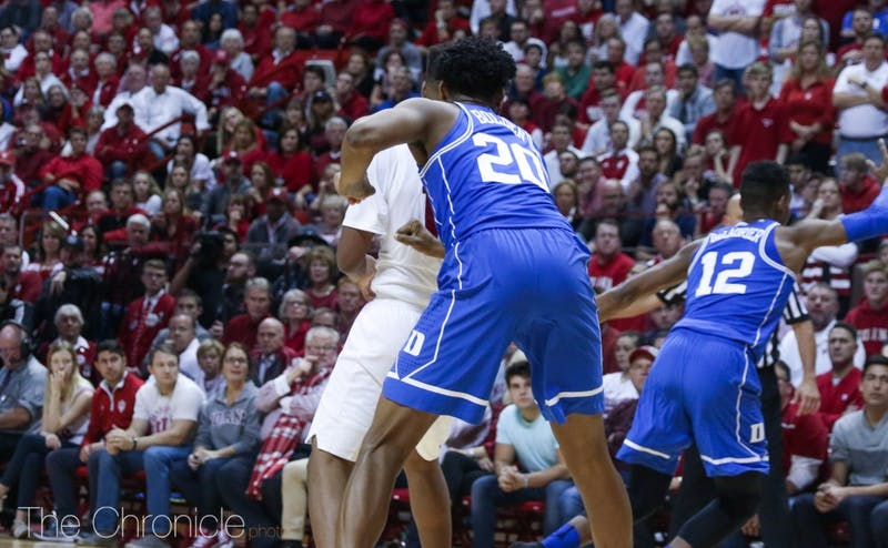 Marques Bolden made a hustle play with Duke trailing by one in the second half to get a steal.