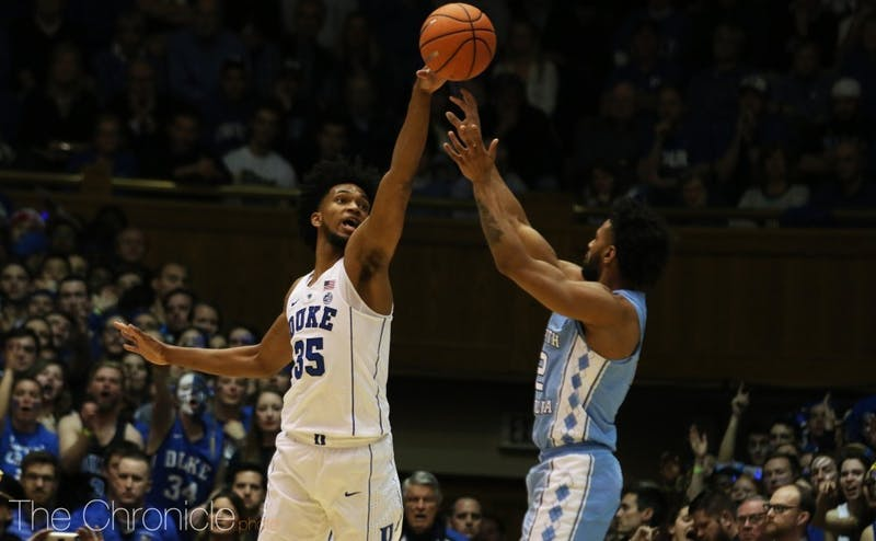 Marvin Bagley III easily captured ACC Player of the Year honors, and the Duke freshman collected by Rookie of the Year honors by a nearly unanimous vote.