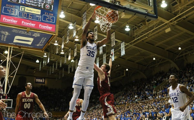 Marvin Bagley III became the first Duke freshman ever to post a double-double in his debut Friday night.