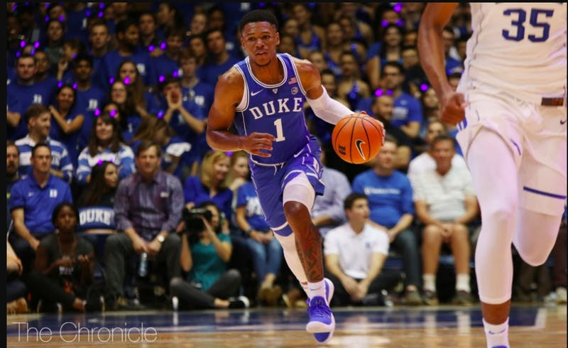 Trevon Duval will miss Duke's final exhibition vs. Bowie State Saturday afternoon after the freshman was suspended.