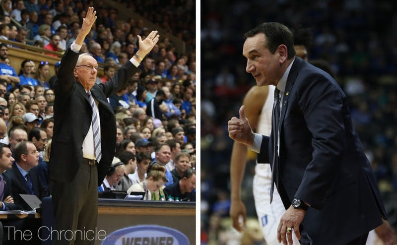Jim Boeheim and Mike Krzyzewski coached together with Team USA for more than a decade.