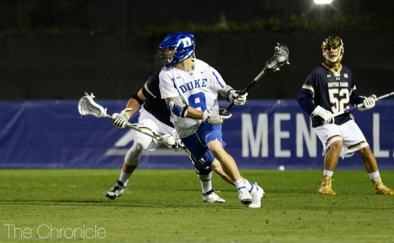 Junior midfielder Sean Lowrie came off the bench to score two goals for Duke, matching the Fighting Irish's offensive output as a team.