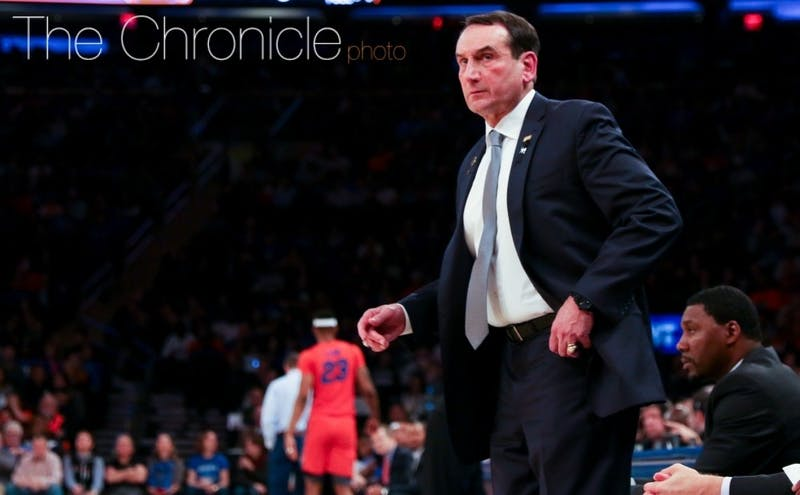 Mike Krzyzewski now has his biggest freshman class at Duke in 30 years.