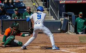 Griffin Conine launched two home runs in Saturday's regular season finale.