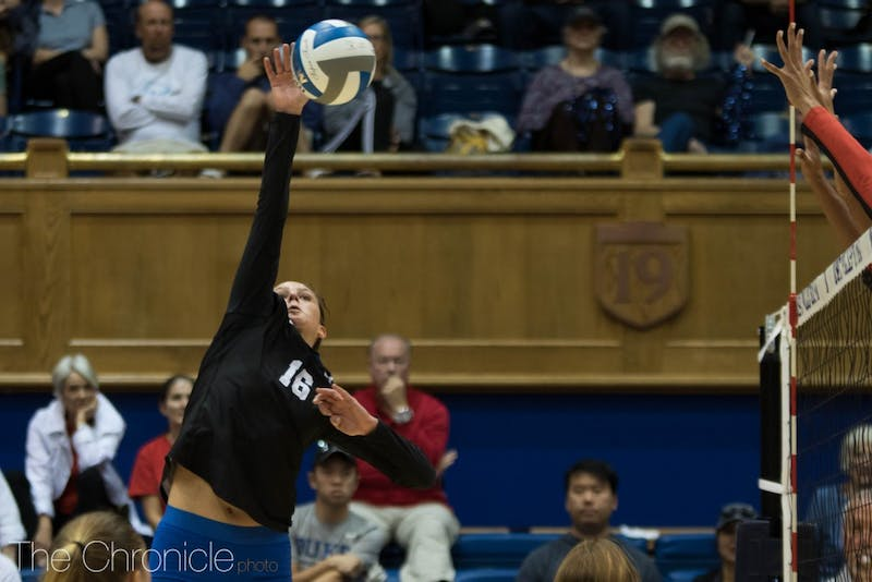 Cadie Bates had a career-high 32 digs against Notre Dame and added 17 kills.