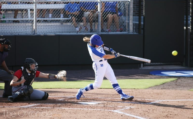 The Blue Devils split a doubleheader against Florida Atlantic on the first day of competitive action in program history.