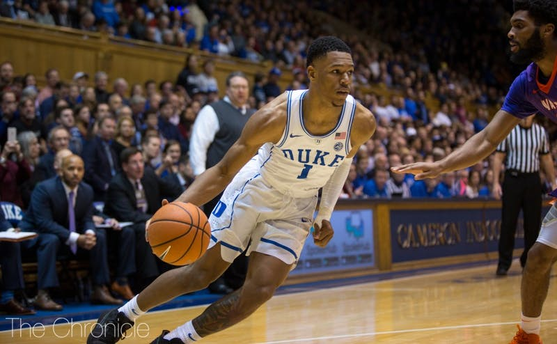 Trevon Duval will be part of a perimeter defensive unit that will try to limit Florida State Saturday.