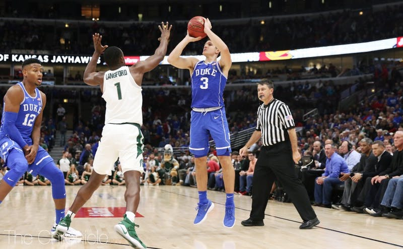 Grayson Allen scored a career-high 37 points and shot 7-of-11 from beyond the arc.