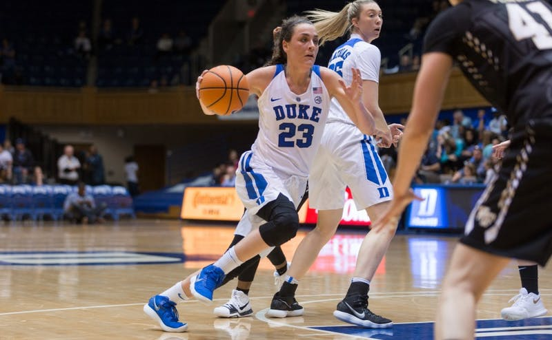 Graduate student Rebecca Greenwell led the Blue Devils sluggish offense to victory Wednesday.