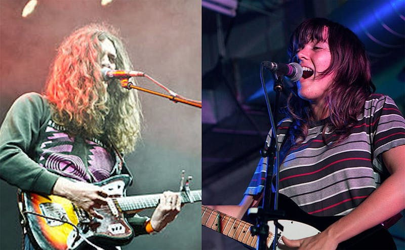 "Indie rock artists Kurt Vile (left) and Courtney Barnett (right) teamed up for the collaborative album ""Lotta Sea Lice."""