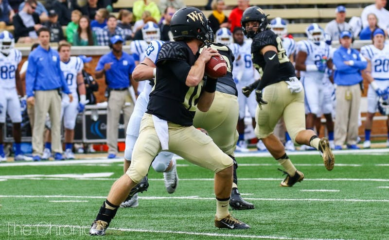 John Wolford leads the ACC in several passing categories this year and has the Demon Deacons on the verge of their best regular season in a decade.