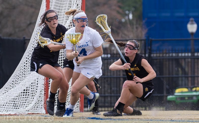 Olivia Jenner was the only Duke player to score more than one goal Saturday.