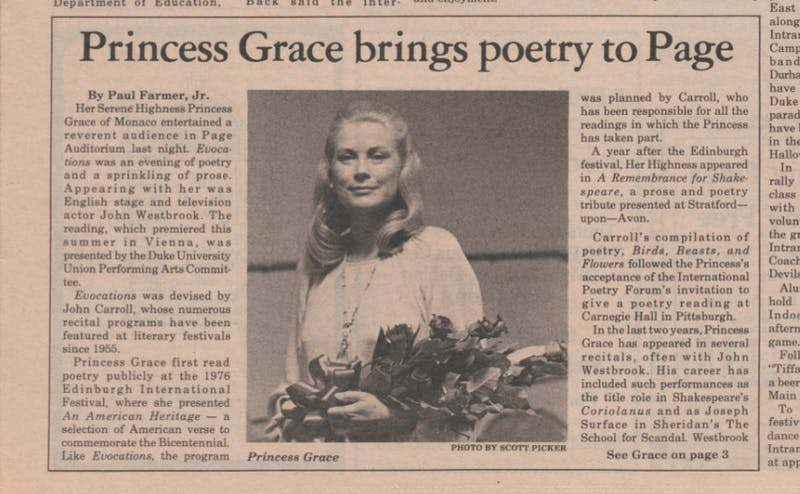Princess Grace visits Duke