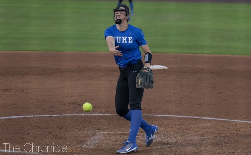 Amelia Wiercioch's five strong innings on the mound were not enough for Duke Wednesday.