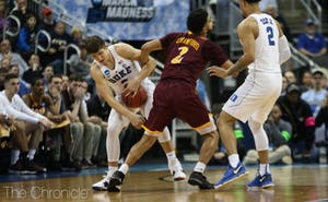 Duke held Iona to only 28 points in the second half, using a new defensive scheme.