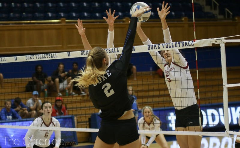 Jessi Bartholomew was the only Duke player to scratch 10 kills Wednesday.