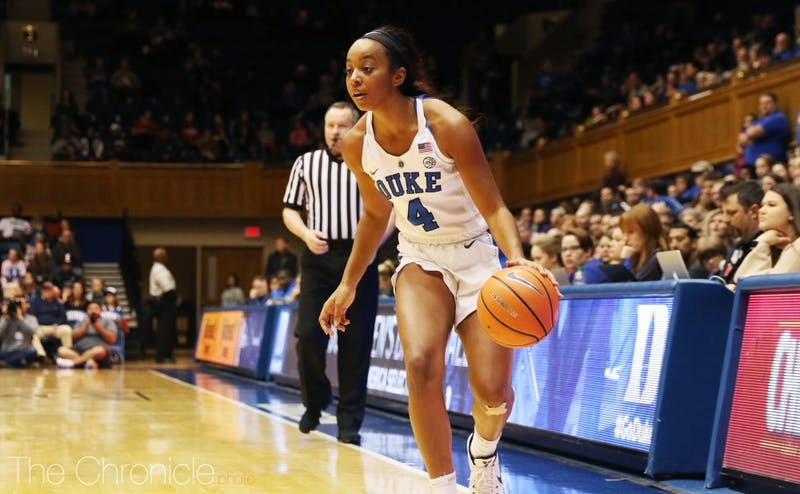 Lexie Brown scored seven straight points late in the third quarter after N.C. State trimmed Duke's lead to six.