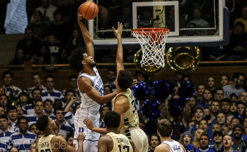 Marvin Bagley III tied the Duke freshman record with his 14th double-double Saturday.