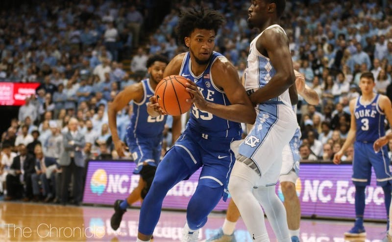 Marvin Bagley III led the Blue Devils with 23 points in last year's matchup against the Hoosiers.