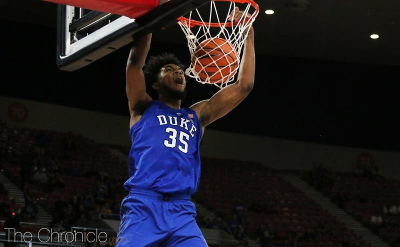 Marvin Bagley III collected a career-high 15 rebounds and scored six early second-chance points at the start of the second half.