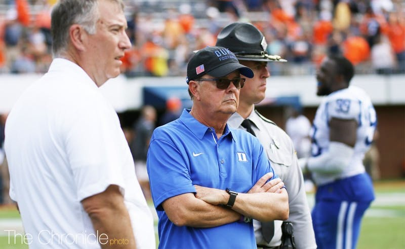 David Cutcliffe entrusted two assistants with defensive coordinator duties this fall.
