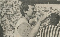 Steve Spurrier was the head coach at Duke for three years from 1987-89 before moving on and winning a national championship at Florida.