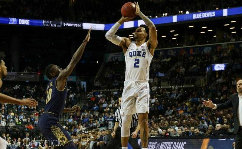 Gary Trent Jr. has started every game for the Blue Devils this year.