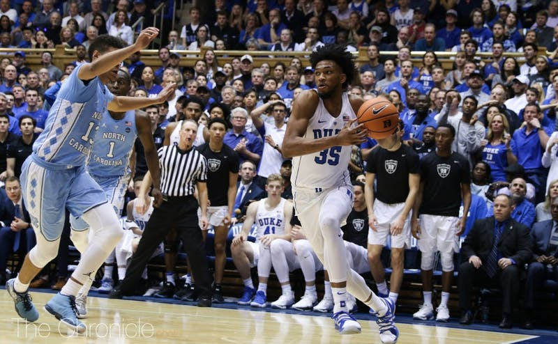 Marvin Bagley III attacked the basket relentlessly in the second half, racking up a double-double in the final 20 minutes alone with 18 points and 11 rebounds.