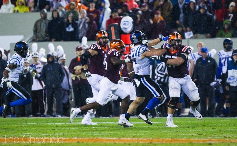 Ben Humphreys will have to stick to his assignments against the Black Knights' triple option.