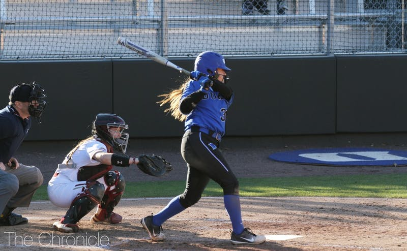 Haley Wymbs singled to set up Duke's fourth-inning rally in Sunday's decisive series finale.
