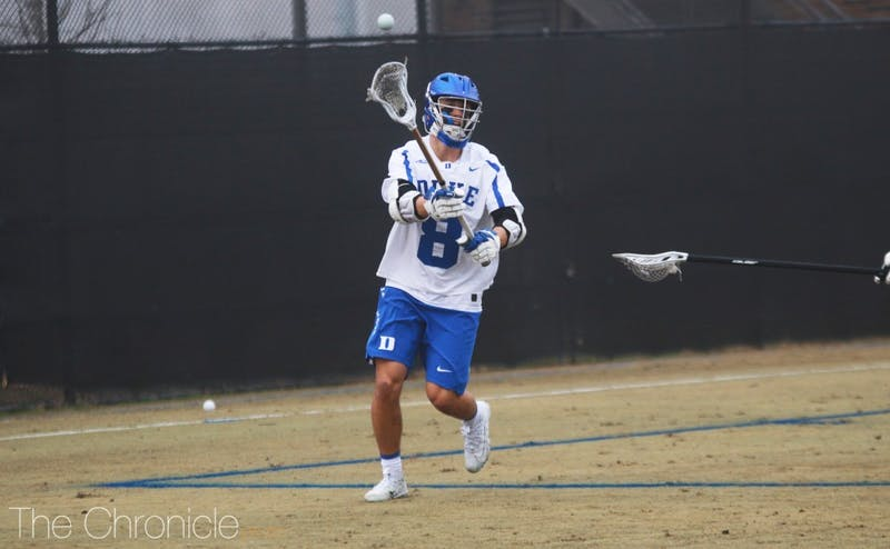 Freshman Joe Robertson posted a hat trick and had eight points in Duke's victory against Jacksonville.
