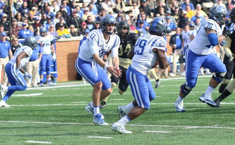 Daniel Jones threw for more than 300 yards and accounted for three touchdowns.