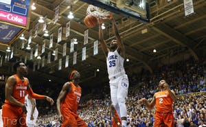 Marvin Bagley led the Blue Devils in scoring in his first game back from a knee sprain.