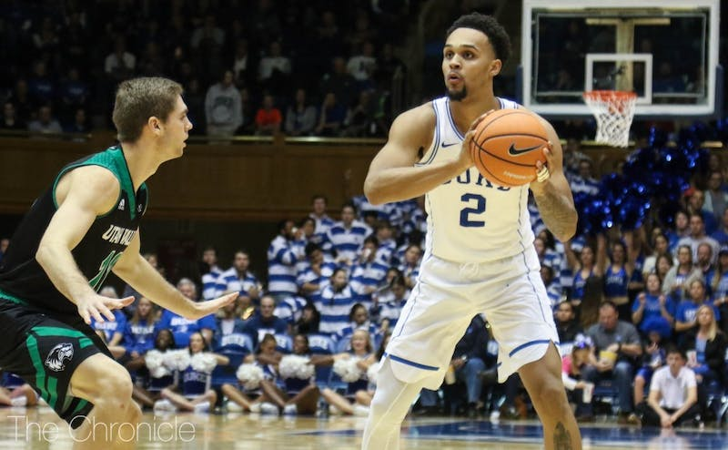 Gary Trent Jr. started on the wing in both of Duke's first two games and may be matched up against Miles Bridges.