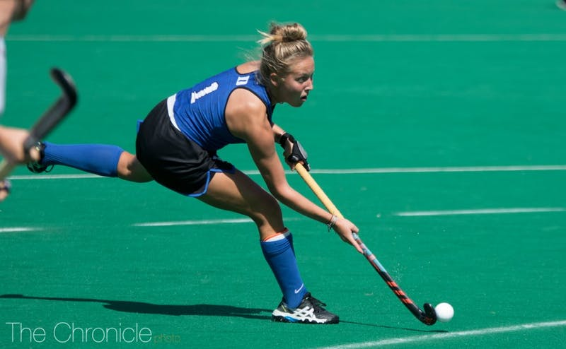 Erin Scherrer came off the bench and scored a goal to pad Duke's lead.