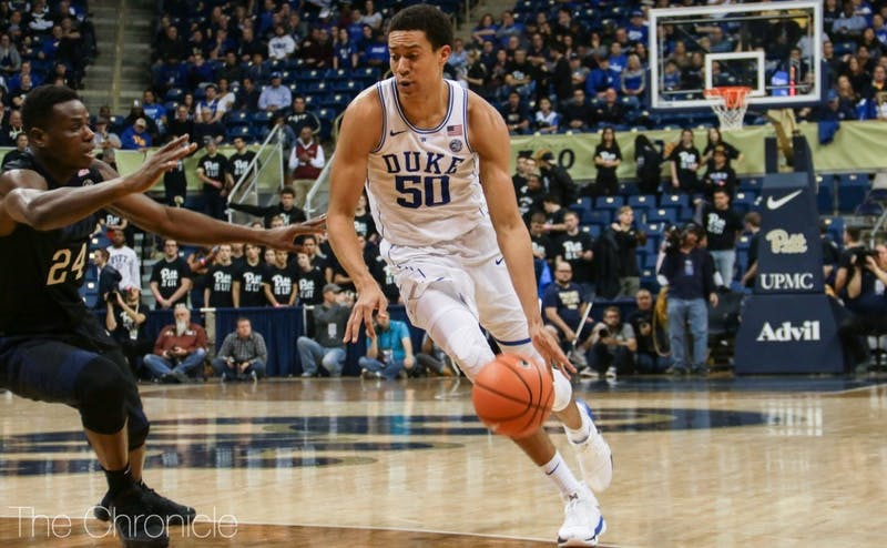 Justin Robinson knocked down three triples and scored a career-high 10 points at Pittsburgh.