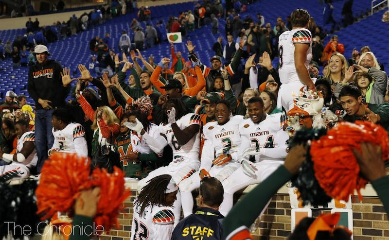 The last time Miami came to Wallace Wade Stadium, the Hurricanes won on a controversial kick return for a touchdown on the last play.