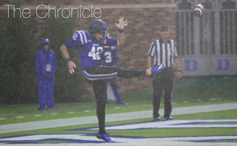 Redshirt sophomore Austin Parker might be Duke's starting kicker, punter and kickoff man this year after the Blue Devils struggled in the kicking game in 2016.
