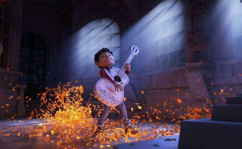 """Pixar's latest feature, """"Coco,"""" follows a boy named Miguel who wants to become a musician despite his family's generations-old ban on music."""