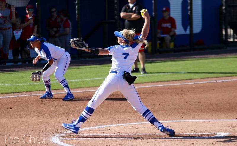 Katherine Huey is one of seven suspended Blue Devils for Friday's series opener.