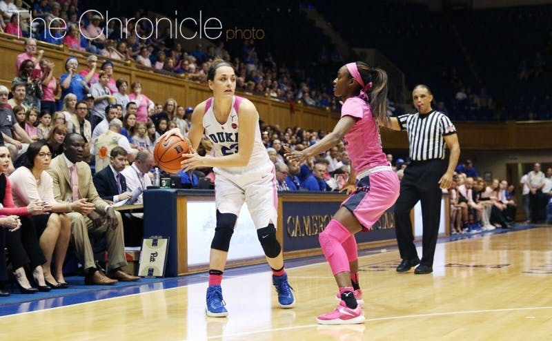 Rebecca Greenwell will begin her final season at Duke in Sunday's Blue-White scrimmage.