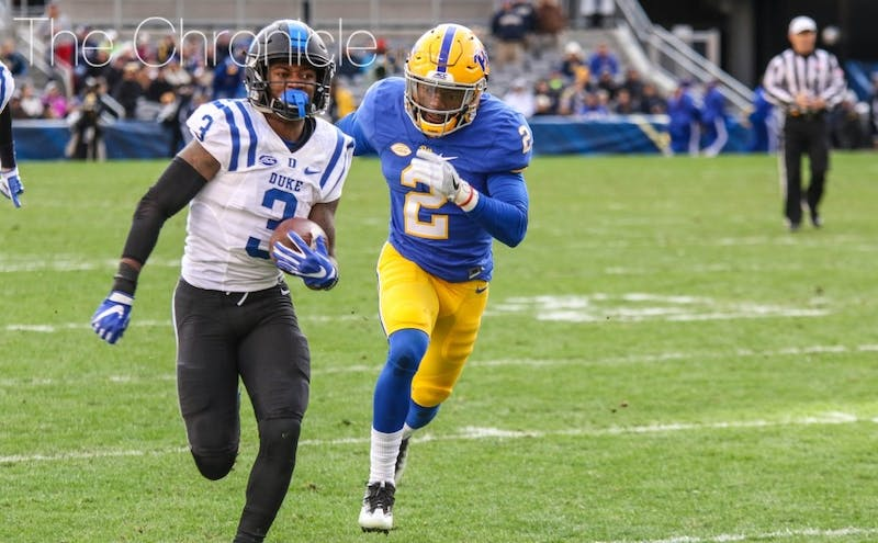 T.J. Rahming caught more than twice as many passes as anybody else on Duke's roster last year.