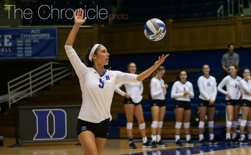 Nicole Elattrache was named the MVP of this weekend's Fight in the Fort, totaling 59 digs in the three matches.