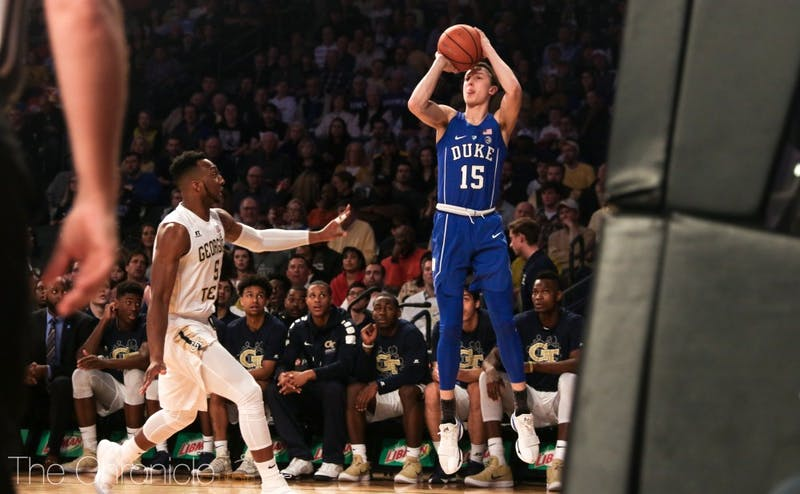 Alex O'Connell spaces the floor much more than Trevon Duval, which gives Grayson Allen more room to work with the ball.